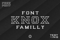 http://Knox is a family of 6 fonts with a mono weight and different decorations. Inspired by the American western culture and tattoos, this font is perfect to use in vintage-themed designs.