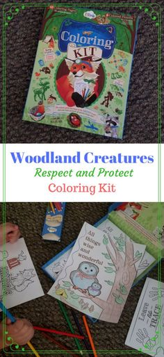 Woodland Creatures Respect and Protect Coloring Kit Review (Toys and Gifts from Wee Believers). Coloring kit includes pencils and 60 coloring sheets. See my full review on the blog #inspirational #inspirationalgifts #kids  « DustinNikki Mommy of Three