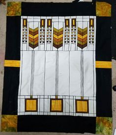 Post with 0 votes and 3122 views. Stained Glass Quilt, Stained Glass Patterns, Art Nouveau, Art Deco, Quilting Designs, Quilting Ideas, Hanging Quilts, Modern Quilt Patterns, Frank Lloyd Wright