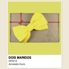 #GravataBorboleta #Casamento #Pajens #Bowtie #DoisMaridos #Amarelo #Yellow