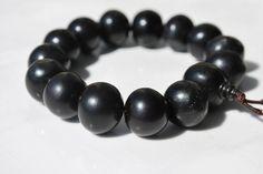 Black Bodhi Seed Mala Bracelet / Meditation/ by BohoBeachJewelry, $8.00