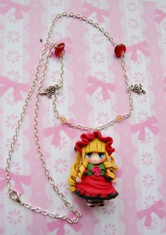 Rozen Maiden anime necklace with handmade polymer by Akindoonline