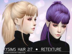 Aveira Sims 4: Skysims 217 hair retextured  - Sims 4 Hairs - http://sims4hairs.com/aveira-sims-4-skysims-217-hair-retextured/