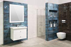 #koupelna #modrá Brave, Toilet, Vanity, Bathroom, Design, Vanity Area, Bath Room, Lowboy, Dressing Tables