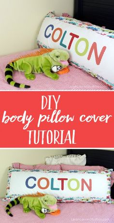 DIY Body Pillow Cover Tutorial (How to make a pillowcase for a body pillow) body pillow DIY Body Pillow Tutorial from Leigh Laurel Studios Body Pillow Pillowcase, Pillowcase Pattern, Pillowcase Tutorial, Diy Pillow Covers, Decorative Pillow Covers, Pillow Set, Pillow Shams, Lumbar Pillow, Diy And Crafts Sewing