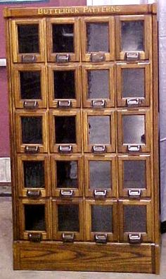 Antique Butterick Sewing Pattern Cabinet - I desperately want one ...