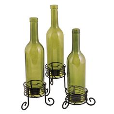 Boulevard: Wine Bottle Candle Holders