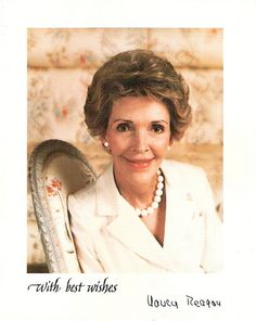 Nancy Reagan married the 40th #President of the United States and became the 42nd #FirstLady.