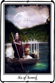 Tarot - Six of Swords by `azurylipfe on deviantART