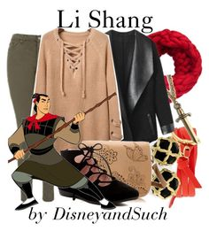 """Li Shang"" by disneyandsuch ❤ liked on Polyvore featuring Topshop, Tory Burch, S.W.O.R.D., Columbia, Taryn Rose, disney, disneybound, mulan and WhereIsMySuperSuit"