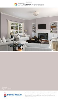 I found this color with ColorSnap® Visualizer for iPhone by Sherwin-Williams: Gris Morado (SW Paint Color App, Paint Colors For Home, House Colors, Sand Color Paint, Concrete Paint Colors, Interior Paint Colors For Living Room, Living Room Paint Design, Indoor Paint Colors, Sherwin Williams Gris