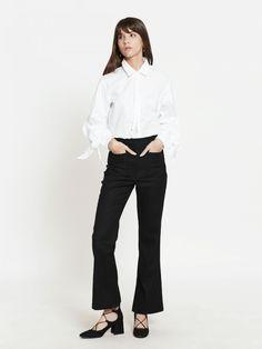 "Shop ""Spencer Flare Legged Pants - Black"" at pomelofashion.com"