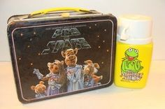 Pigs in Space lunchbox and Kermit thermos