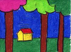Art Projects for Kids: Spring Landscape