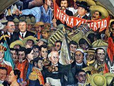 Mural de Diego Rivera, Palacio Presidencial Mexico