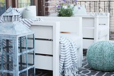 DIY Outdoor Chairs and Porch Makeover DIY Outdoor Chairs and Porch Makeover Pallet Patio Furniture, Outdoor Furniture Plans, Furniture Logo, Cheap Furniture, Home Furniture, Luxury Furniture, Garden Furniture, Geek Furniture, Furniture Cleaning
