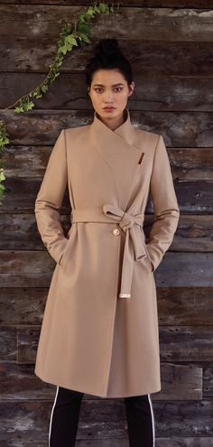 Ted's SANDRA coat. Crafted from a sumptuous wool and cashmere blend, this long length coat features a magnetic fastening and wrap-around waist belt to ensure a stylish demeanour. How To Wear Belts, Wrap Coat, High Fashion, Womens Fashion, Autumn Winter Fashion, Winter Style, Fashion Books, Winter Wardrobe, Sweater Jacket