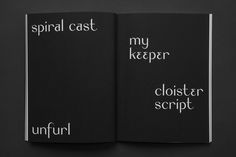 Aleph is a poetry book authored by Tirzah Goldenberg, published by Verge Books Chicago, and designed by Pouya Ahmadi.