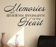 Memories are Treasures Quote | Vinyl Wall Lettering | Vinyl Decals
