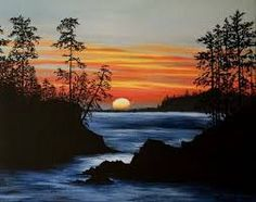 acrylic paintings of sunsets - Google Search
