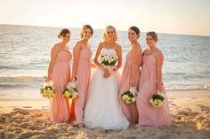 sweet strapless bridesmaid dresses