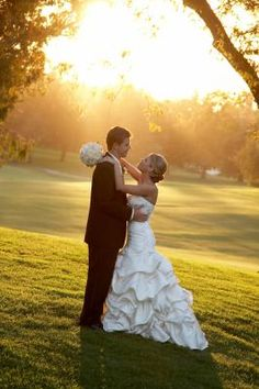 Beautiful golf course sunset by Christopher Kight Photographers  www.kightphoto.com