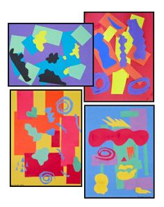 Matisse-inspired Geometric / Organic Collage - an art lesson using shape, color, and space.