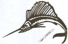 pez vela paper cut