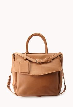 City Girl Faux Leather Satchel   FOREVER21 It's not a purse it's a satchel #Accessories #FauxLeather #Handbag