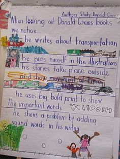Author Study - Donald Crews