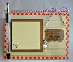 Teacher presents or neighbor presents. Using a dollar tree clear acrylic picture frame 5x7.