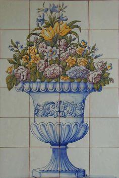 19th Century Portuguese Tile murals, spanish tile, victorian tile, decorative tile, ceramic tile