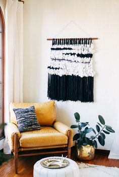 Black and white wall hanging from A House in the Hills