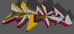 3D Graffiti by MMDrake