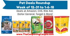 Need Pet Products?! Check out this list of deals at various stores! Pet Deals Roundup ~ Week of 12-31 to 1-6-18  Click the link below to get all of the details ► http://www.thecouponingcouple.com/pet-deals-roundup-week-of-12-31-to-1-6-18/ #Coupons #Couponing #CouponCommunity  Visit us at http://www.thecouponingcouple.com for more great posts!