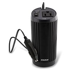 SNAN 150W Car Cup Holder Power Inverter DC 12V to AC 110V Power Adapter with USB port and AC outlet