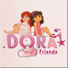 Dora ve Arkadaşları - Kate Kendin Tasarla - HDF Magnet 8x8cm
