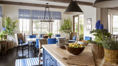 22 Reasons Why Blue Is the Best Color for Decorating Your Home:  Woven blue accessories add warmth and casualness.
