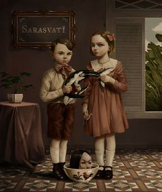 Here's some of the latest illustrations from Roby Dwi Antono – an illustrator and graphic designer living in Indonesia who sites his biggest influences as Mark Ryden and Marion Peck. Creepy Paintings, Creepy Art, Weird Art, Yogyakarta, Arte Lowbrow, Mark Ryden, Art Sinistre, Dibujos Dark, Surealism Art