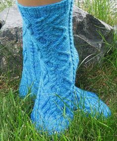 Eye of the Helix Socks...  Pattern available for free from Redtigerdesigns