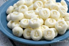 Cream Cheese Mints - These delicious little gems melt in your mouth and are so easy to make! My 9 year old made a batch all by herself!