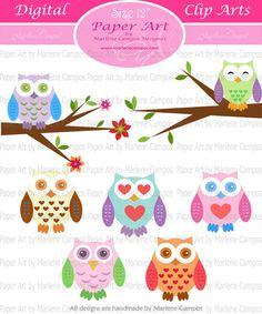 Owl clip art $4.99 etsy