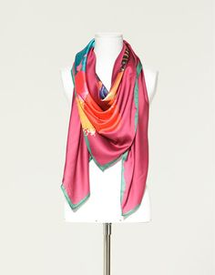 gorgeous water colour scarf from Zara