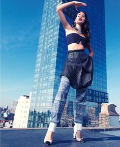 Urban Patterned Fashion - The Modern Media China January 2014 Editorial Stars Sara Sampaio (GALLERY)