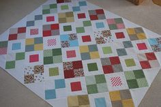 crazy mom quilts: merry minis quilt top