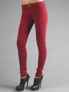 Makers Intense Red Denim Skinny Jeans | Jeans & Clothes ...