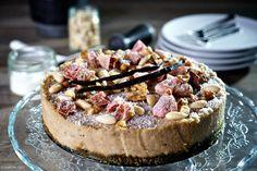 Nepečená kokosovo – kávová torta so sušenými figami