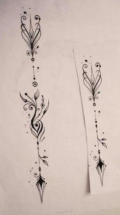 arrow spine tattoo small arrow tattoo arrow tattoo design mandala ...