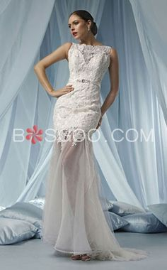 Lace Beading Bow Belt Appliques Wedding Dress