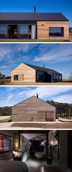 ROOF - Hill Plain House by Wolveridge Architects in Victoria, Australia Shed Homes, Log Homes, Modern Barn House, Casas Containers, Contemporary Barn, Barn Renovation, Small Modern Home, House Roof, Cabana
